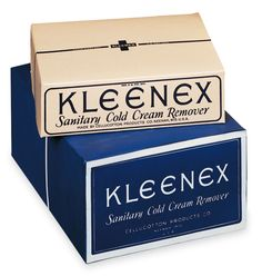 The origins of Kleenex Cold Cream, Package Design, 1920s, Facial, Editorial, How To Remove, Packaging, Logos, Spring