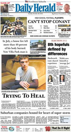 Daily Herald front page, Oct. 28, 2012