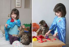 This patient kitty who is the best playmate a kid could ask for.