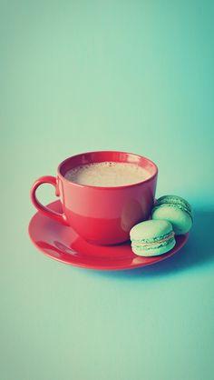 Vintage Coffee - #macarons iPhone wallpaper @mobile9