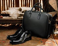 Louis Vuitton Men's Fall Bag and Shoes... Great Business Wear