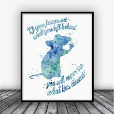Ratatouille Quote Watercolor Art Print Poster. For Home Decoration, Nursery and Kids Room Decor. Disney Art.