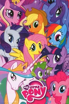 My Little Pony Cast Art Collage Cartoon Poster 24x36 – BananaRoad