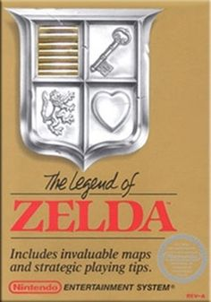 Legend of Zelda, The (Gold) - NES Game. My favourite video game from the original NES system.