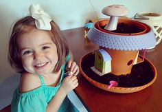 Making her fairy garden with daddy! My Fairy Garden, Child Love, Growing Plants, Daddy, Sun, Water, How To Make, Gripe Water, Aqua