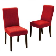 Best Selling Home Liberty Parsons Dining Chair - Set of 2 Red - 295176