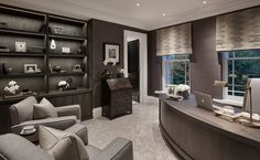 nice 28 Luxury And Modern Home Office Design https://homedecort.com/2017/04/luxury-modern-home-office-design/