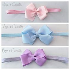 Kit com Headband/faixa de cabelo. <br>Pode ser feito em elastico ou bico de pato.