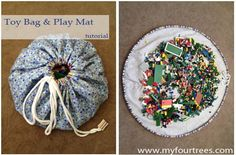 Toy Bag and Play Mat tutorial - great for Legos!  I need to make about ten of these.