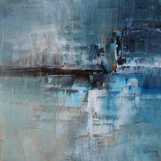umj.art - Ulla Maria Johanson: 2017-10-07 #1062Sound WavesAcrylic on board, 15x...