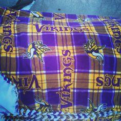 #Minnesota #Vikings #fleece ##blanket  Jan.2014