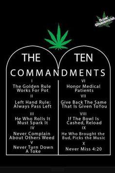the ten commandments of pot