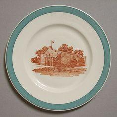 "Missouri Kansas & Texas RR Big Green ""Alamo"" Railroad China Plate from timestreasures on Ruby Lane"
