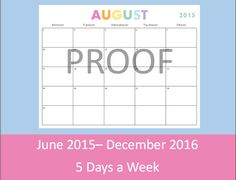 work week calendar 2015