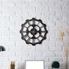 Metal Wall Clock - Clover Metal Clock, Metal Walls, Mirror, Laser Cutting, Furniture, Home Decor, September, Decoration Home, Room Decor