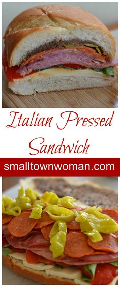 The idea of putting lots of Italian meat, mozzarella cheese, basil and red pepper together between soft bread and pressing it with a couple of heavy books is just plain fun! Soup And Sandwich, Sandwich Recipes, Pressed Sandwich, Sammy, Italian Meats, Best Italian Recipes, Kraft Recipes, Wrap Sandwiches, Dinner Menu
