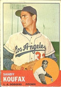 1963 Topps * 210 Sandy Koufax Los Angeles Dodgers Baseball Card Deans Cards 4 VG/EX Dodgers ** To view further for this item, visit the image link-affiliate link. Dodgers Baseball, Baseball Star, Baseball Players, Baseball Caps, Baseball Field, Baseball Display, Football Names, Pirates Baseball, Baseball Quotes