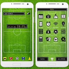 """Kick Off!"" 5/7 '15 Try using colorful uniform icons along with the soccer field wallpaper! Great for sports lovers! http://app.android.atm-plushome.com/app.php/app/themeDetail?material_id=1255&rf=pinterest #wallpaper #design #icon #style #plushome #sports #soccer"