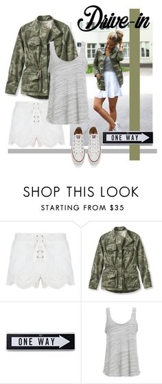 """Summer Date"" by bysc ❤ liked on Polyvore featuring MINKPINK, L.L.Bean, Moschino, Project Social T and Converse"
