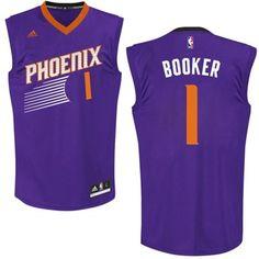 10b27bcfc Men s Phoenix Suns Devin Booker adidas Purple 2015 NBA Draft  1 Pick  Replica Jersey Devin