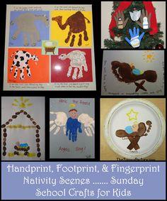 Handprint Nativity scenes - really cute!