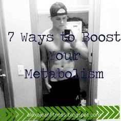 7 Ways to Revive and Boost Metabolism Metabolism Booster, Boost Your Metabolism, Get Skinny, Fitness Exercises, Health Fitness, Workout, Healthy, Baby, Get Lean