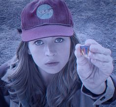 Casey Newton played by Britt Robertson with her Tomorrowland Pin from the Disney Tomorrowland Movie.