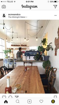 Cafe Interior Vintage, Industrial Cafe, Cafe Shop, Life Goals, Dining Area, Cups, Hero, Lights, Table Decorations