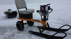 Ice Auger Go Kart Machine for Ice fishing hauling equipment project video thumbnail