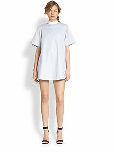 Alexander Wang Split-Back Cotton Shirtdress  another shitty, overpriced outfit.  Go to the hospital and you'll get a better one.