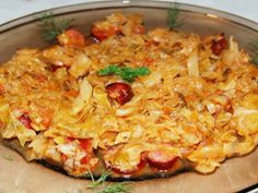Cabbage and sausages Baby Food Recipes, Cooking Recipes, Food Baby, Cabbage And Sausage, Romanian Food, Romanian Recipes, No Cook Meals, Fried Rice, Macaroni And Cheese