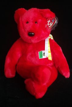 Ty Beanie Baby Buddies 1999 Red Osito Mexico Teddy Bear Plush Toy  Ty 3cf4858e4352