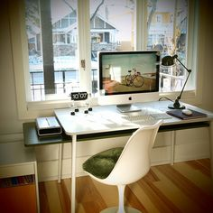 like this desk space, especially the light.