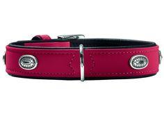 #Hunter Softie Stone Nickel #Hundehalsband rot schwarz