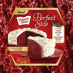 Duncan Hines® Perfect Size Red Velvet Dream Cake Duncan Hines® Perfect Size cakes are just the right size for 2 to 4 people