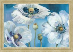 Give your space a visual boost with the giclee-printed floral image on the Tangletown Fine Art Blue Dance I Canvas Wall Art by Lisa Audit the calming. Painting Frames, Painting Prints, Fine Art Prints, Blue Painting, Painting Art, Fine Art Amerika, Canvas Wall Art, Canvas Prints, Wall Mural