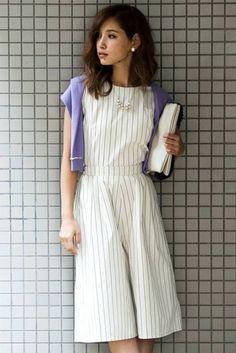 ミリオンカラッツ ストライプオールインワン Million Carat Striped Jumpsuit  ||   ShopStyleJP: Editor's Pick  ショップスタイル:エディターズ