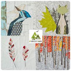 Super cute paper piecing patterns - Forest QAL | Projektownia Jednoiglec