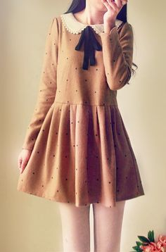 Ulzzang Fashion [Anya would so wear this! Kawaii Fashion, Lolita Fashion, Cute Fashion, Girl Fashion, Vintage Fashion, Fashion Outfits, Womens Fashion, Fashion Clothes, Simple Dresses