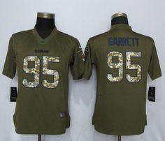 2017 NFL Women New Nike Cleveland Browns 95 Garrett Green Salute To Service  Limited Jersey 5cdd35436