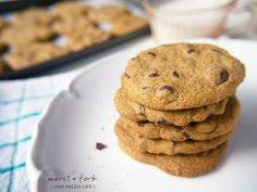 These nut-free, grain-free, egg-free perfect paleo chocolate chip cookies will be the best cookies you've ever eaten. Period.