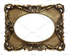 Golden picture frame Vintage object by LiliGraphie on @creativemarket
