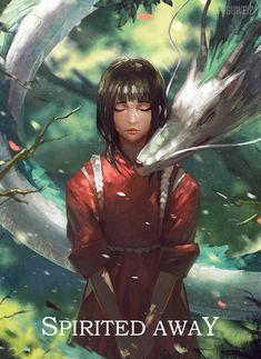 Haku and Chihiro - Spirited Away - Studio Ghibli / Hayao Miyazaki
