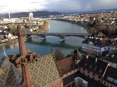Basel: view from the top of the Münster.