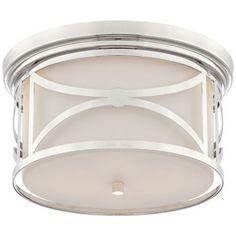 "Possini Euro Valona 15"" Wide Brushed Nickel Ceiling Light - BuildersDiscountLighting.com"