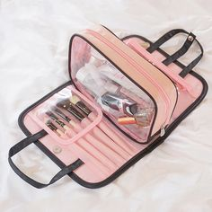 Women two-in-one cosmetic bag folding cosmetic storage Wash bags travel organizer makeup bag large capacity beauty toiletry bags Cosmetic Storage, Bag Storage, Cosmetic Organiser, Wash Bags, Bag Organization, Large Bags, Travel Bags, Travel Cosmetic Bags, Chic Outfits