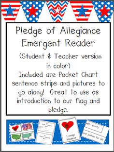 This is a blog about how I used this Pledge of Allegiance emergent reader and Pocket Chart Activity  in my classroom this past week and will again reuse this coming Tuesday as we talk about Constitution Day.    We will just review before we jump into what the Constitution is! My students loved this and were reading and rereading the pocket chart during centers at the end of the day!