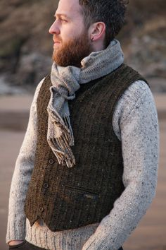 6ce39f51070 Aran tweed vest by Studio Donegal  clothing  mens  Aran  tweed  vest