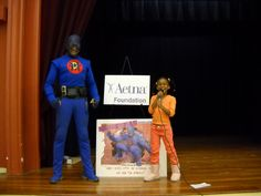 Introducing DANGERMAN the Urban Superhero here to talk to us about how to stay Safe and out of danger.
