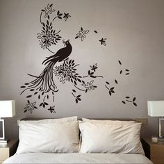 60 + Beautiful Wall Decals - Page 35 of 63 - SooPush Wall Painting Decor, Stencil Painting On Walls, Mural Wall Art, Vinyl Wall Art, Painting Patterns, Art Decor, Wall Décor, Decoration, Dandelion Wall Decal